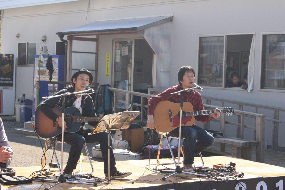「なみえ復興祭 2014 秋」レポート。福岡出身のケイタクのおふたり。