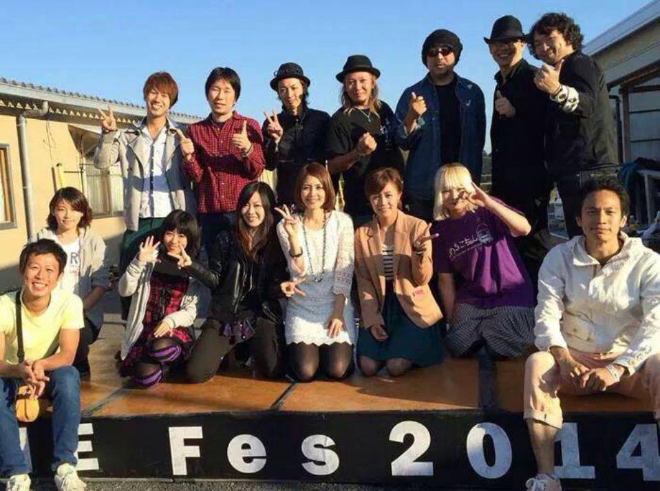 「なみえ復興祭 2014 秋」レポート。出演者とスタッフで集合写真